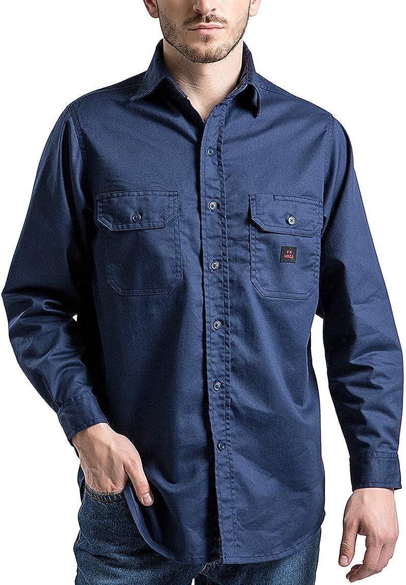 Titicaca FR Camisa de trabajo resistente al fuego, ligera, 88% algodón, 12% nailon, para hombre, de manga larga - Negro - 5X-Large: Amazon.es: Ropa y accesorios