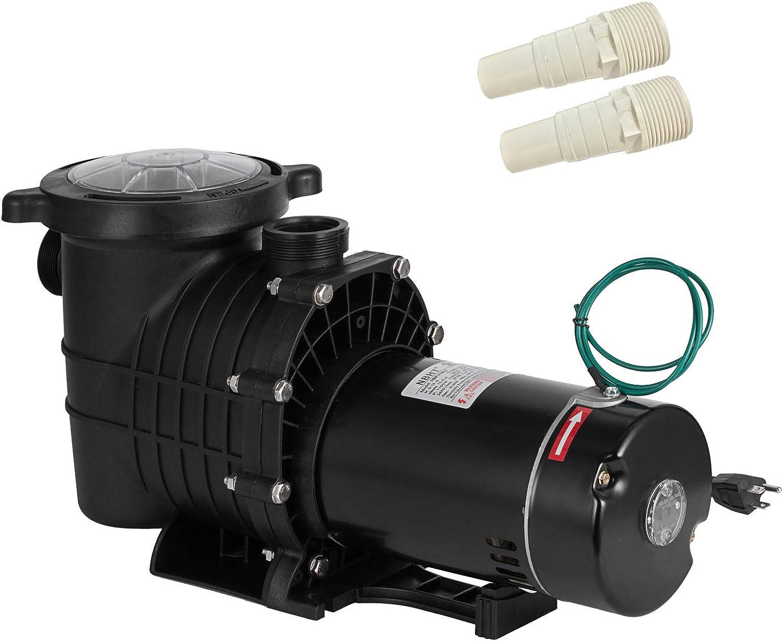 SHZOND Swimming Pool Pump 1.5HP 110/220V Pool Pump Single Speed 1100W In/Above Ground Pool Pump (1.5HP)