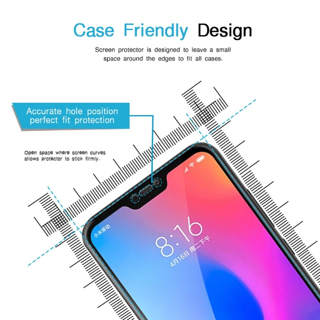4056501425afc Wow Imagine Tempered Glass for Redmi 6 Pro (Black) Edge to Edge Full Screen  Coverage with easy installation kit  Amazon.in  Electronics