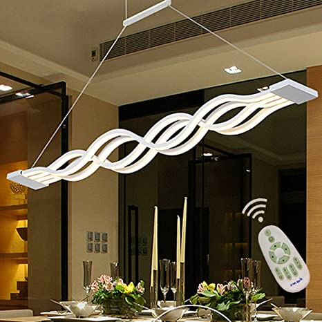 LED Dining Room Kitchen Island Table Light Fixtures Dimmable ...