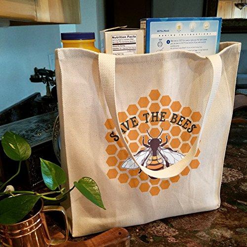 Save The Bienen Honig Lebensmittels Reise wiederverwendbar Tasche–Groß 2GaB4P7VX