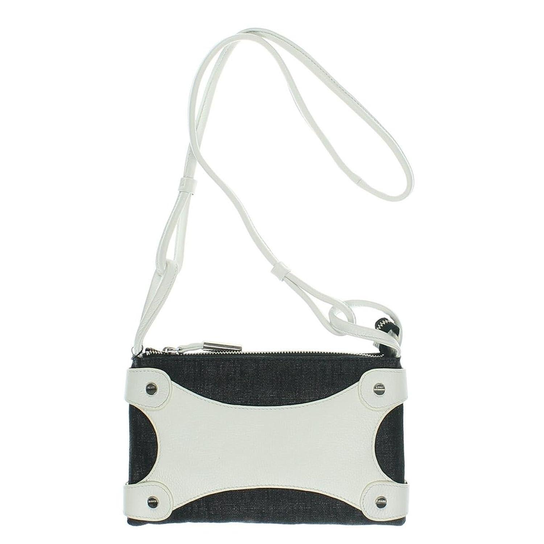 Bodhi Handbags NEW Bahamas B/w Contrast Trim Canvas Crossbody Handbag