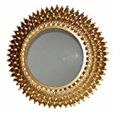 A&B Home AV42533 Round Wall Mirror, 30 by 2.5″ For Sale