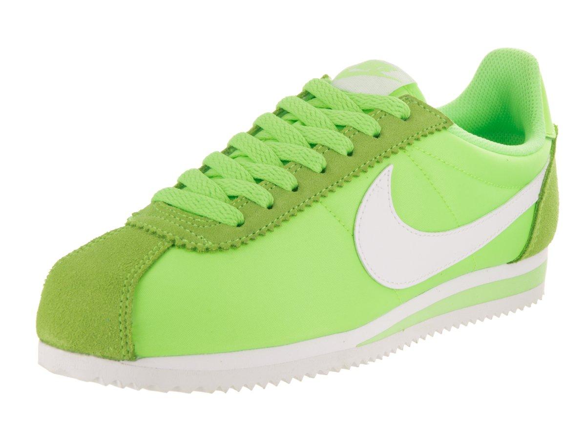 NIKE Women's Classic Cortez Leather Casual Shoe B01FBGA23W 7 B(M) US|Ghost Green / White