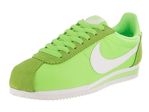 Nike Wmns Classic Cortez Nylon, Zapatillas de Deporte para Mujer, Verde (Ghost Green