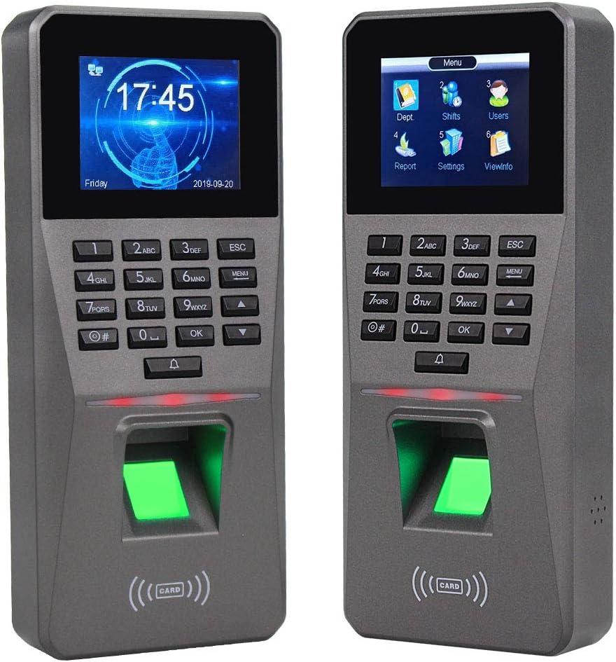HFeng 2.4inch RFID TCP/IP RFID digital Control de acceso biométrico Teclado Contraseña RFID Sistema de teclado de acceso con software + 10pcs Llaveros ...