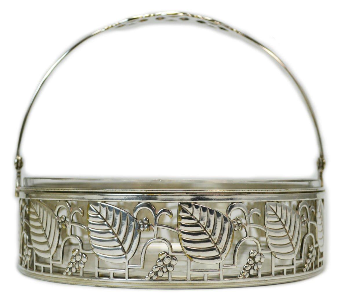 Art Deco Floral cuenco de servir arroz WMF de metal elegante ...