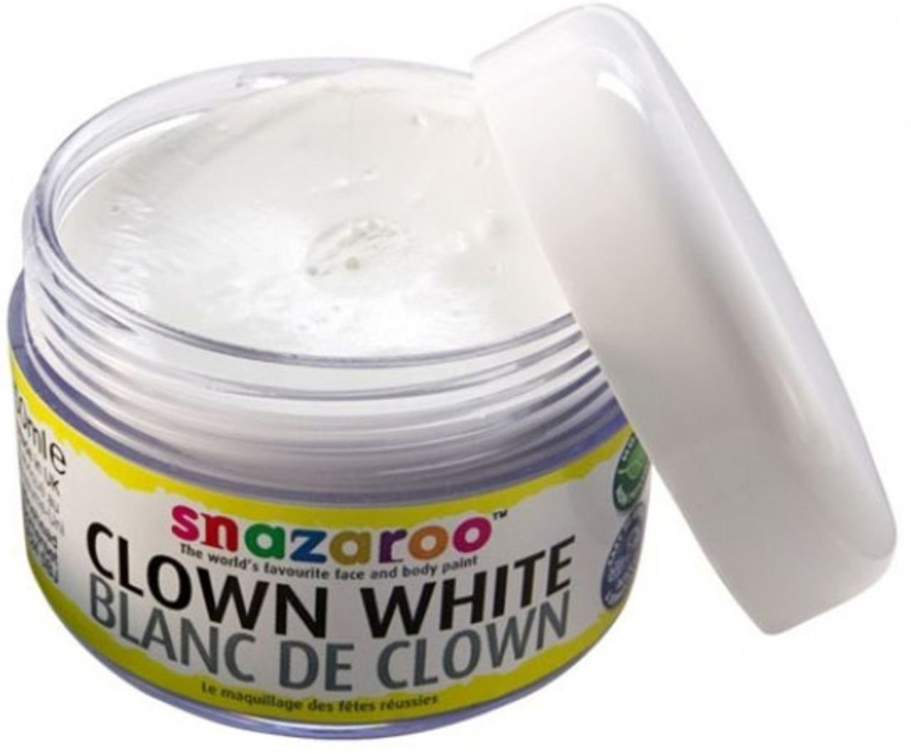 Snazaroo Fancy Party Creamy Water Based Make-up Clown Face Paint White 50ml