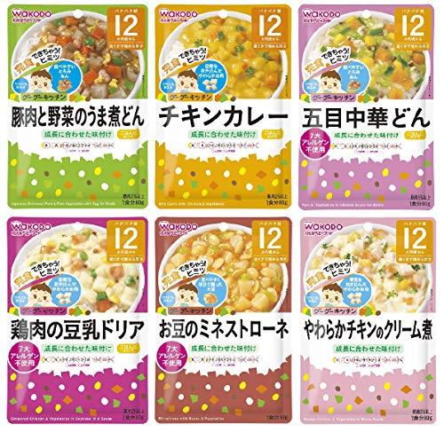 和光堂 グーグーキッチン [12か月頃から] おすすめセット ベビーフード 6種×2袋(12袋)