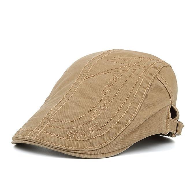 Gorras Gatsby Boinas Hombres Niños Retro Clásico Algodón Al Aire Libre  Verano Sombrero Para El Sol 22d934b616f