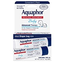 0.35Oz Aquaphor Baby Healing Ointment Advanced Therapy 2 tubes
