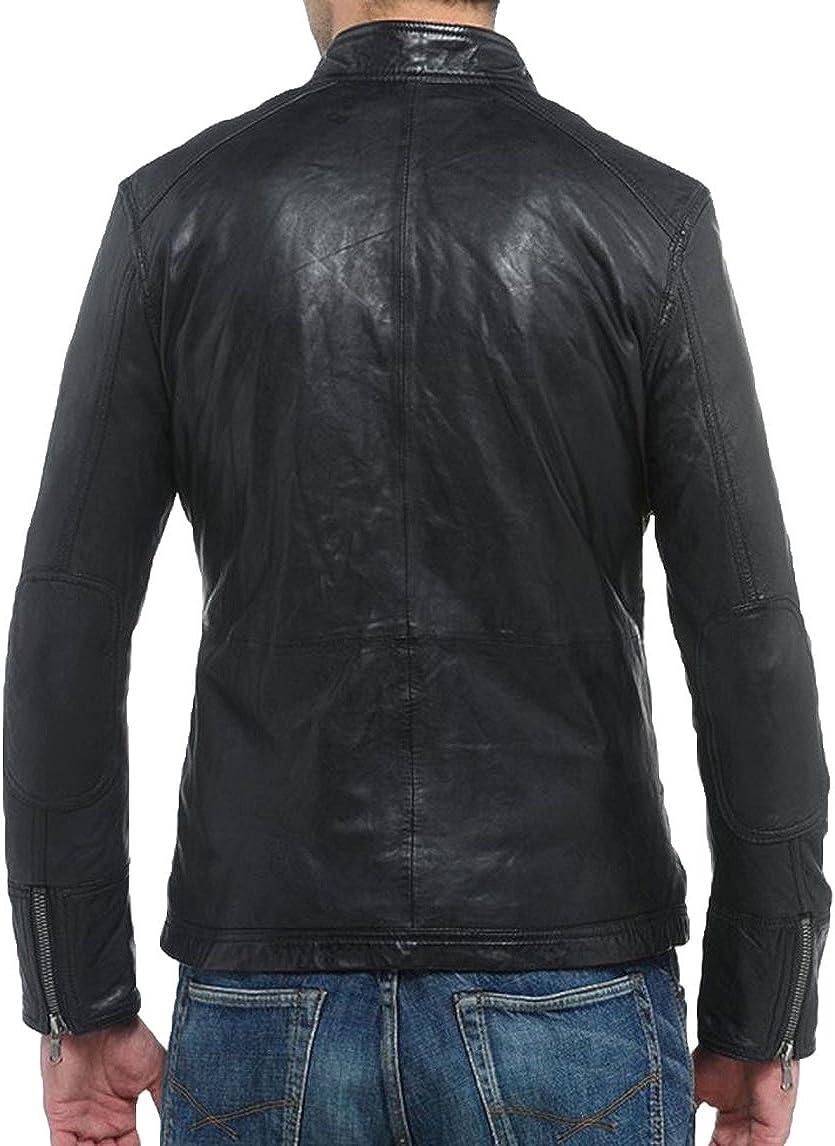 Kingdom Leather New Men Designer Genuine Lambskin Soft Biker Leather Jacket X1070