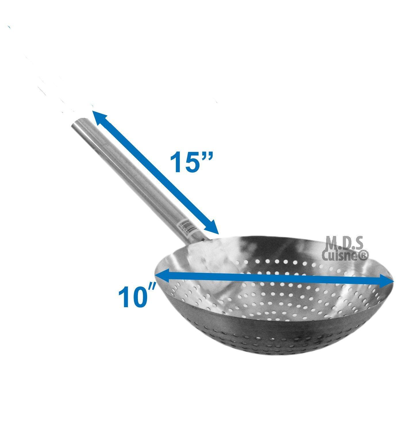 Amazon.com: Stainless Steel Stir Fry Skimmer Strainer 25