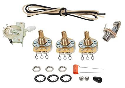 Fender Stratocaster Strat 5-way Wiring Kit - CRL Switch - CTS Pots on