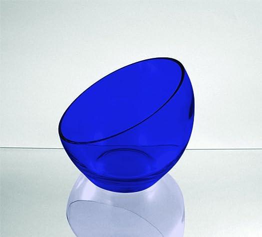 Cobalt Blue WGV Slant Cut Bowl Glass Vase/Glass Terrarium