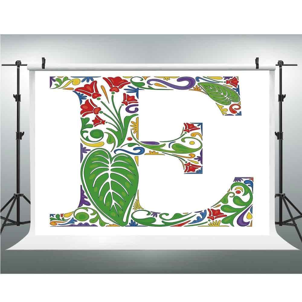 文字D、シワが少ない背景幕、3.28x5フィート、電気をテーマにしたD字型、オールドファッション映画館ショー装飾。 10x10ft Multi_16 B07GNRLGZB