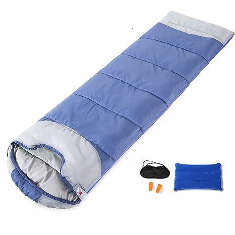 ZML Saco de Dormir Individual, Cálido, Calefacción, Ligero, Portátil, Acampar al