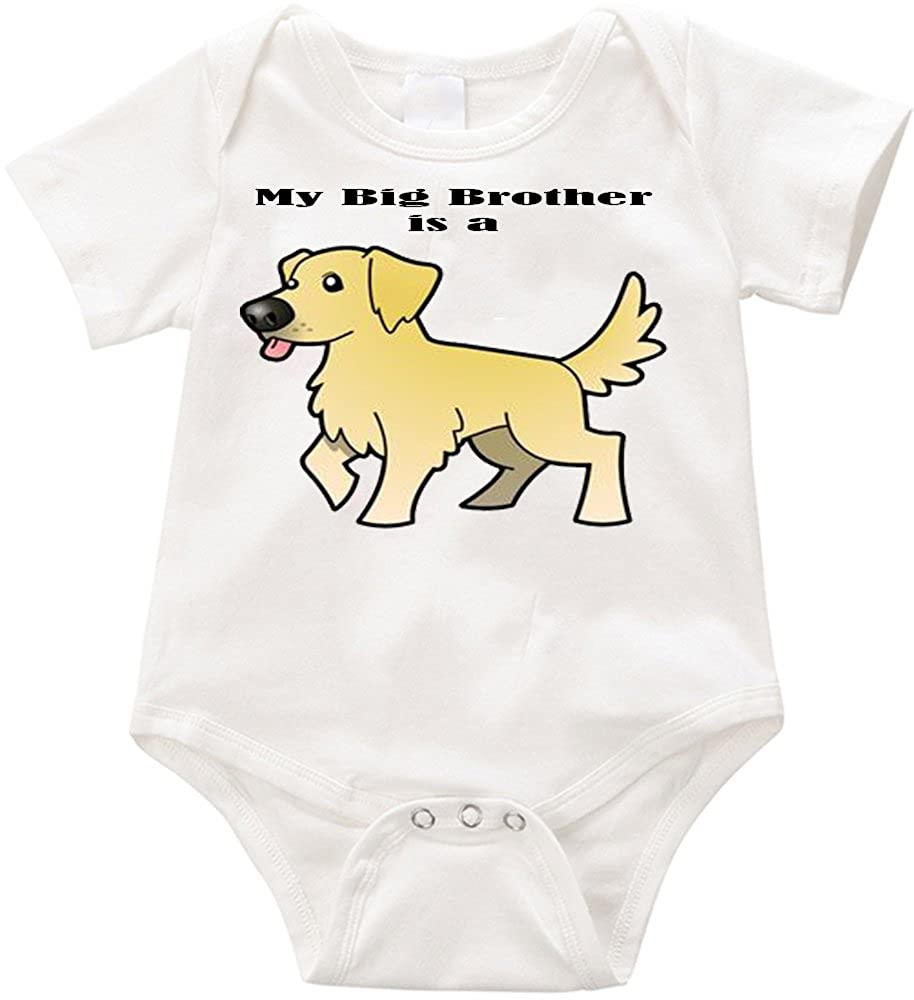 Infant Unisex Romper VRW My Big Brother is a Golden Retriever