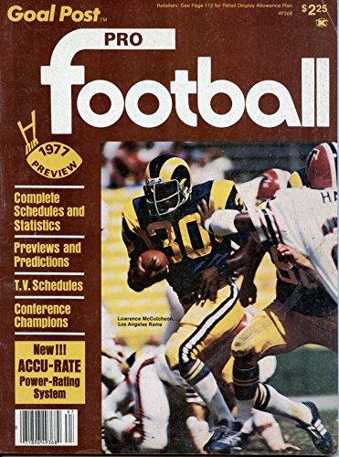 1977 Goal Post Pro Football Preview Magazine- Lawrence McCutcheon -
