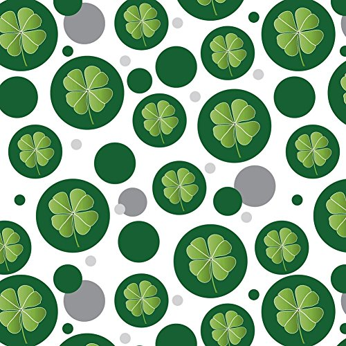 Premium Gift Wrap Wrapping Paper Roll Pattern - Symbols - Four Leaf Clover Good Luck Irish Leprechauns ()