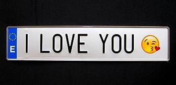 Matricula I LOVE YOU (réplica españa 52 x 11 cm): Amazon.es: Juguetes y juegos