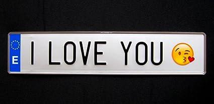 Matricula I LOVE YOU (réplica españa 52 x 11 cm): Amazon.es ...