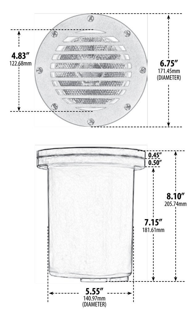 1 Light In-Ground Well Light with Grill Bulb Type: 150W MAX PAR38 by Dabmar Lighting