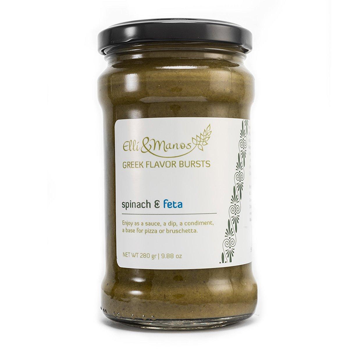 Elli & Manos Greek Flavor Bursts - Spinach & Feta - 280gr/9.88oz - highly concentrated spread/veggie dip