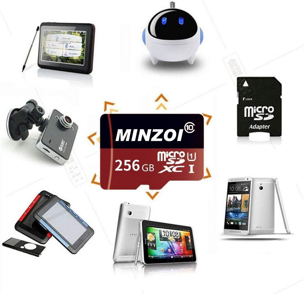 Carte M/émoire Micro SD 128 Go 400 Go Haute Vitesse Classe 10 Carte SDXC Carte m/émoire SD avec Adaptateur SD 256 Go 128GB