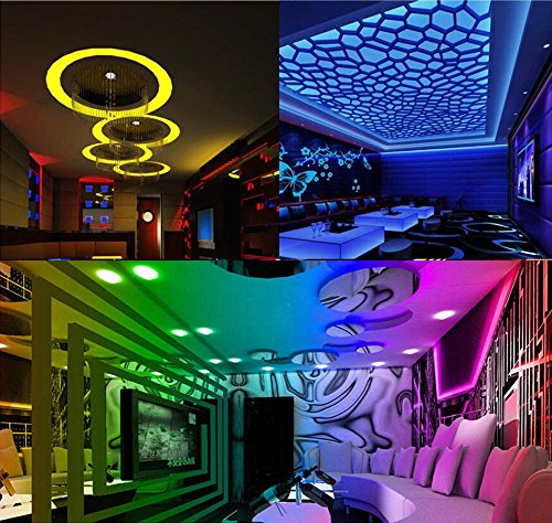 Soosch Led Strip Lights Kit 10M 5050 RGB 300 LEDs Flexible Color Changing Full Kit with 44 Keys IR Remote Controller,Control Box,12V 5A Power Supply for Home Lighting Decorative