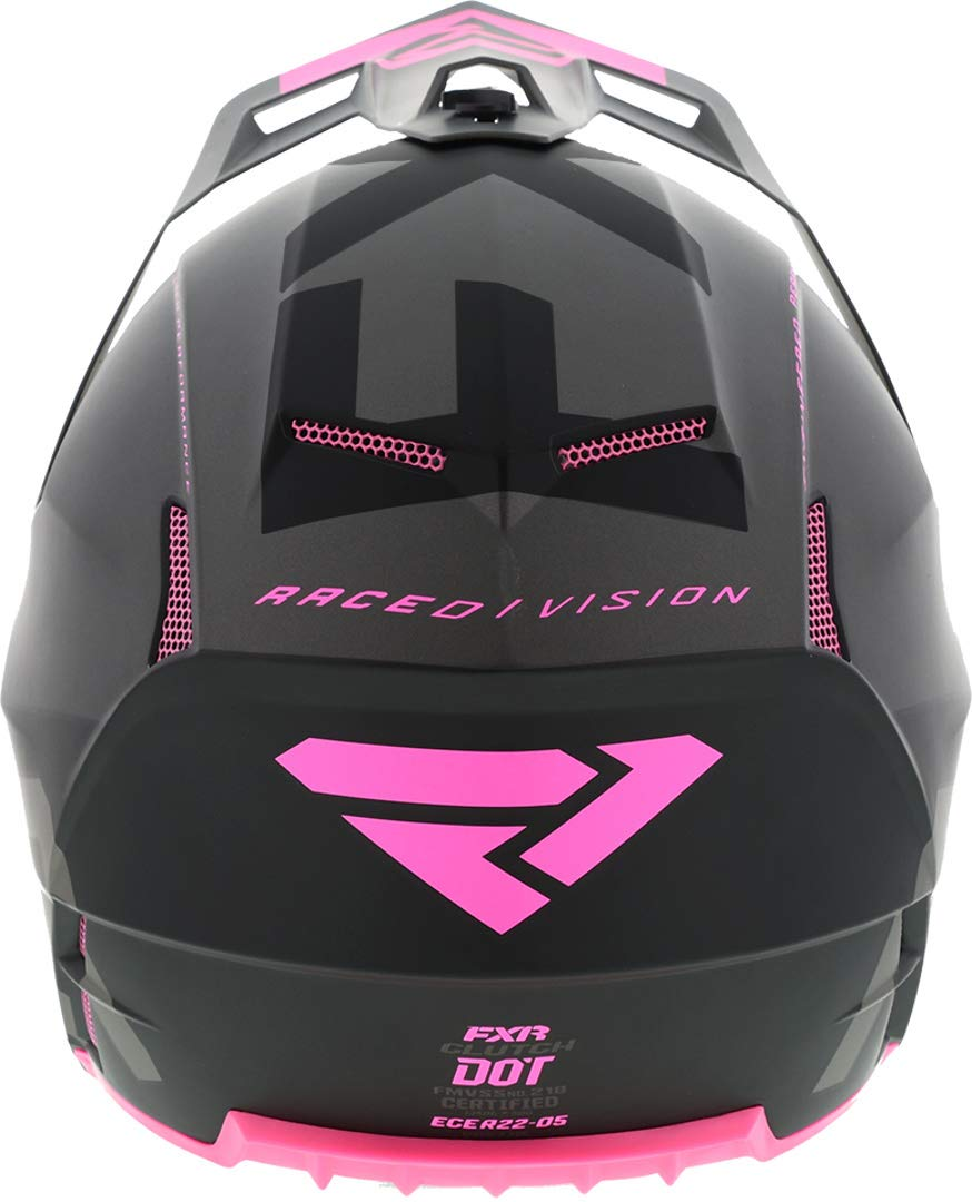 FXR 2020 Clutch Evo Helmet Medium Black//Charcoal//Electric Pink
