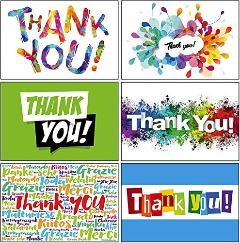 Lone Star Greetings, 12 Thank You Cards Assortment with Envelopes, Made in USA