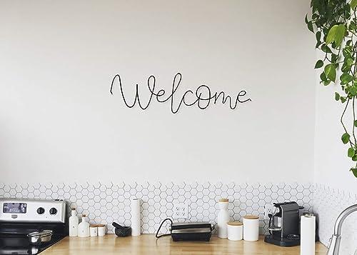 Wire Wall Art Welcome Amazon Co Uk Handmade