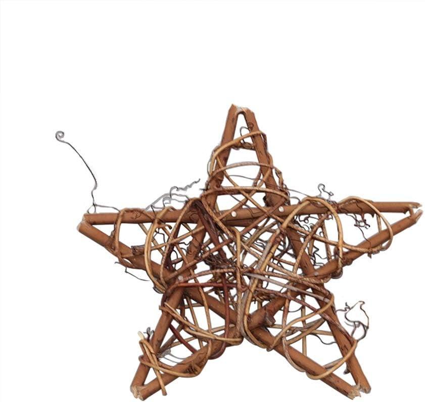 Cdet 1pc Couronne de Porte Noel Rotin DIY Pendantif Decoration Accueillant pour Arbre de Noel D/écor Christmas Party Style Rond 10CM