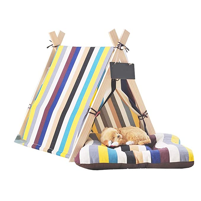 Ryan Tipi De Perro, Interior Simple Forma Pet Teepee Cat Bed Tiendas De Campaña Pet House para Cat Dog Pet Nest (Color : 3 (no Mat), Tamaño : L): Amazon.es: ...