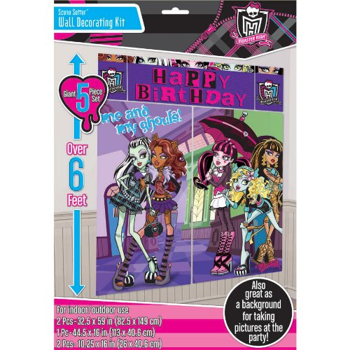 Scene Setters Wall Decorating Kit | Monster High Collection | Party Accessory]()
