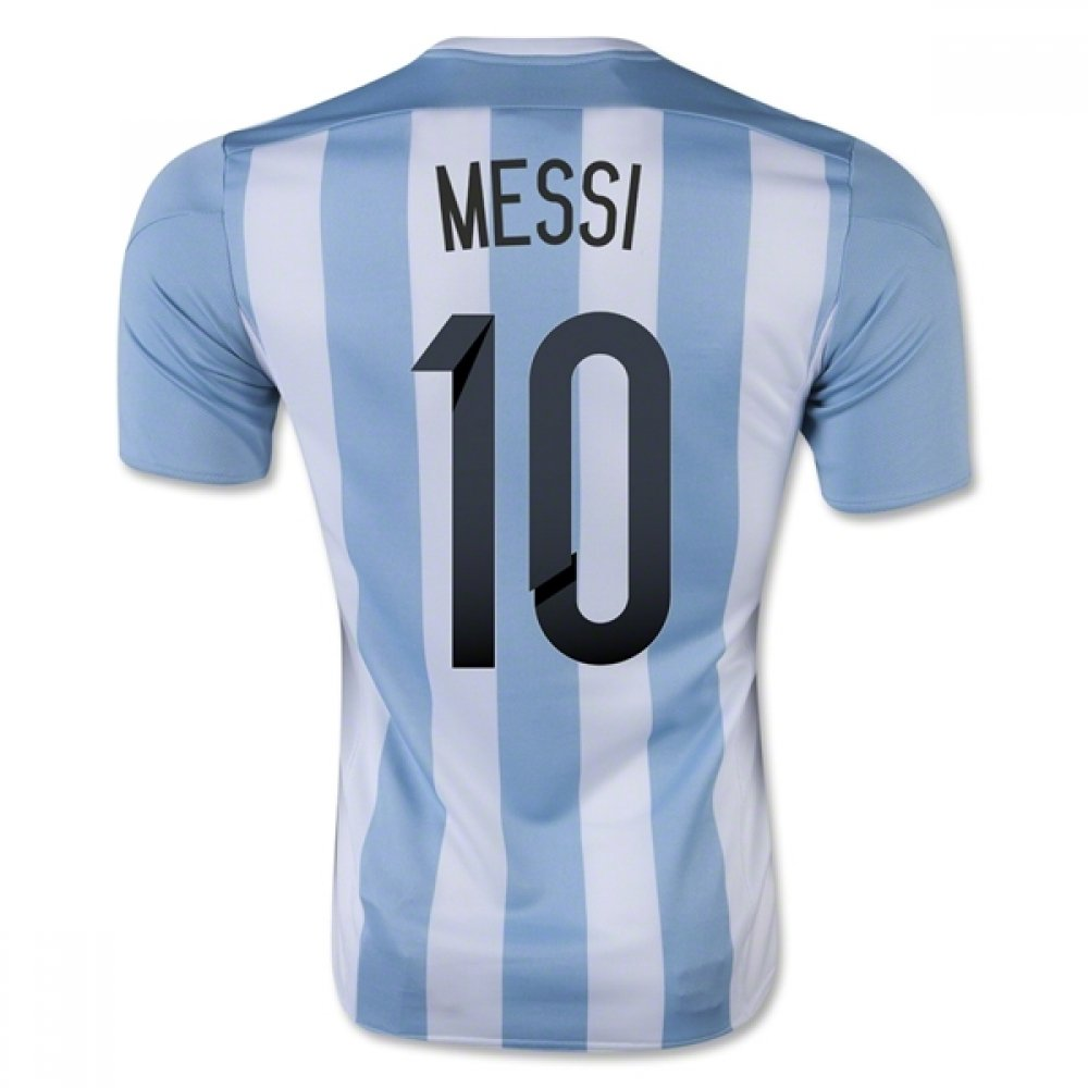 2015-16 Argentina Home Football Soccer T-Shirt Trikot (Lionel Messi 10) - Kids