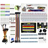 HESAI HS-KIT-003 Upgraded Electronics Fun Kit : Power Supply Module, Jumper Wire, Precision Potentiometer, 830 tie-points Breadboard for Arduino, Raspberry Pi, STM32
