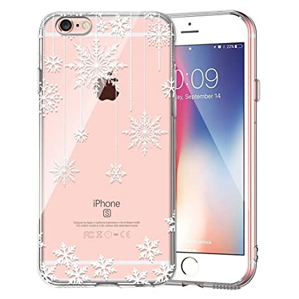 Amazoncom Iphone 6 Case Iphone 6s Clear Case Sanforin Snowflake