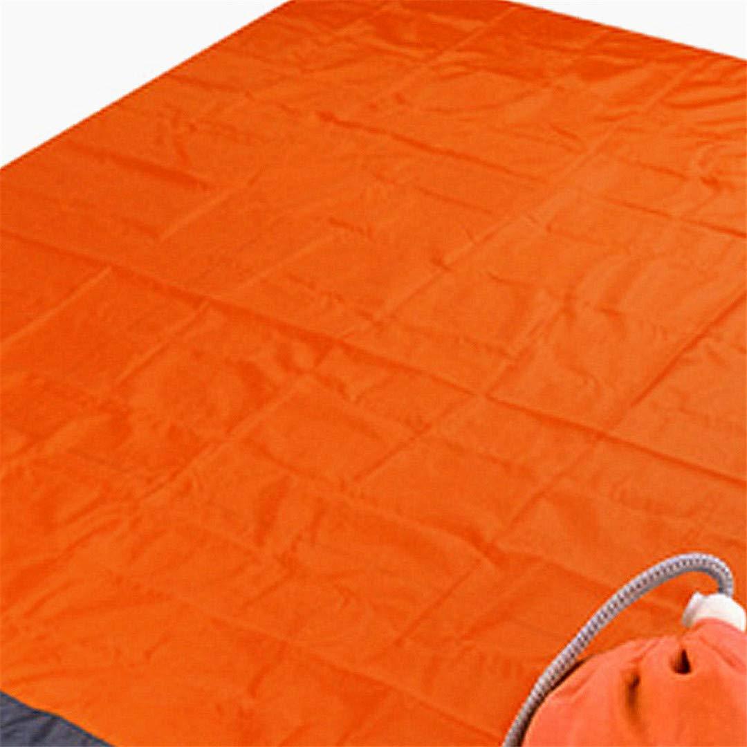 Bleu//Gris Pocket Couverture de Camping /étanche /à leau Sand Beach Blanket Mat Tente l/éger Linon Couverture de Pique-Nique avec 4 Ancres de pieu