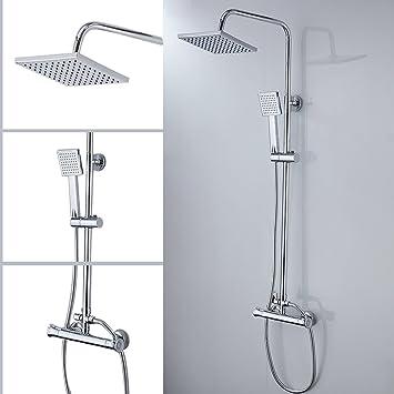 Columna de ducha con grifo termostático gran alcachofa de ducha y ...