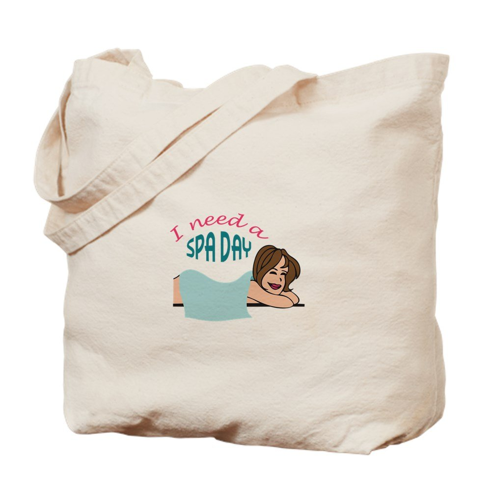 CafePress - I NEED A SPA DAY - Natural Canvas Tote Bag, Cloth Shopping Bag