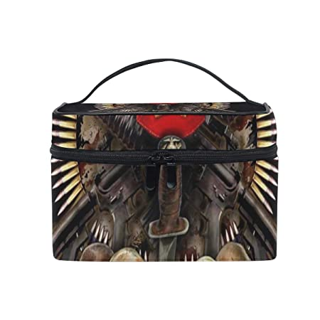 d1409950d412 Amazon.com : Travel Cosmetic Bag Designer Veterans Day Wallpaper ...