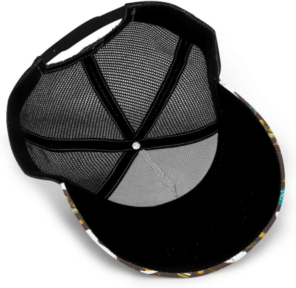Baseball Cap Hand Drawing Easter Cartoon Slyle Adjustable Mesh Unisex Baseball Cap Trucker Hat Fits Men Women Hat