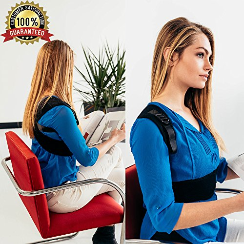 PREMIUM Posture Corrector for Women & Men, Back Support Brace For Pain Relief, Kyphosis, Shoulder Alignment Strap, Breathable And Comfortable Fabric, Elastic For Freedom Of Movement, With E-Book by Awesome Champion