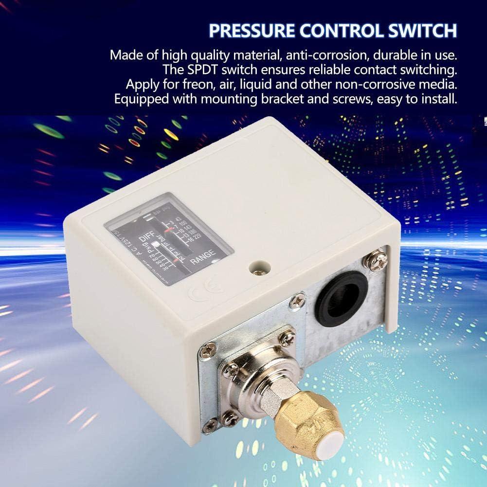 Interrupteur de commande de pression 24V~380V Interrupteur de commande de pression /électronique Pompe /à eau//air Compresseur Contr/ôleur de pression avec support de montage pour /équipement de climati