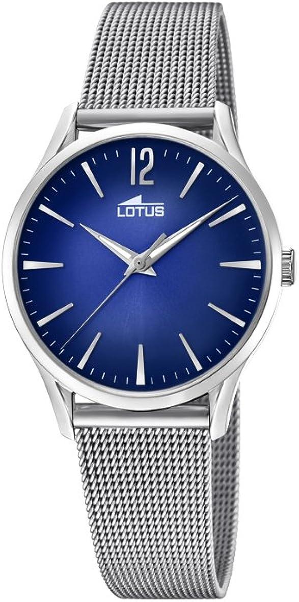Lotus Watches Reloj Análogo clásico para Mujer de Cuarzo con Correa en Acero Inoxidable 18408/3