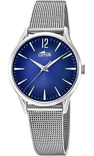 e6ddcf99bb48 Lotus Watches Reloj Análogo clásico para Mujer de Cuarzo con Correa en  Acero Inoxidable 18408