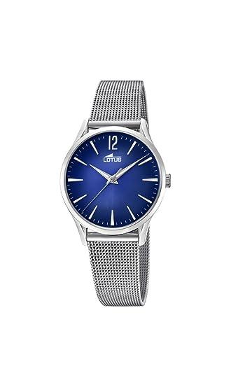 1f0cfed8c961 Lotus Watches Reloj Análogo clásico para Mujer de Cuarzo con Correa en  Acero Inoxidable 18408 3  Amazon.es  Relojes