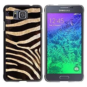 TopCaseStore / la caja del caucho duro de la cubierta de protección de la piel - Black White Zebra Pattern - Samsung GALAXY ALPHA G850